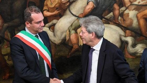 De Magistris a Roma: il Sindaco incontra il Premier Gentiloni