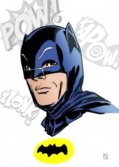 Il Batman di Adam West, l'omaggio del disegnatore Lorenzo Ruggiero