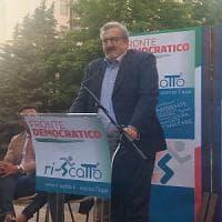 A Potenza il governatore della Regione Puglia Michele Emiliano, per un'iniziativa di Fronte Democratico