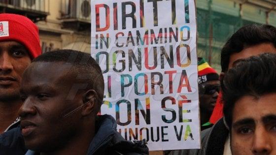 Ius soli: in 6000 in corteo a Caserta contro il razzismo