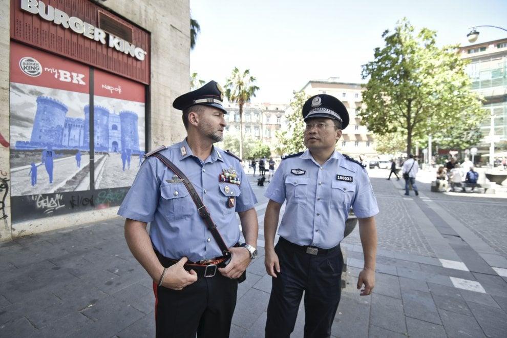 Sicurezza, agenti cinesi in servizio a Napoli