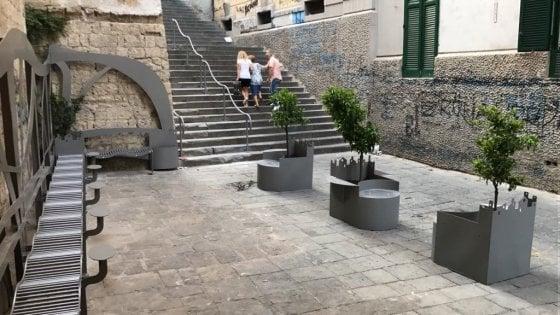 Piet de 39 turchini inaugurazione del progetto di arredo for Arredo urbano torino