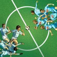 Napoli, la partita dei sogni: la squadra di Maradona contro quella di Hamsik, un disegno esclusivo per i lettori