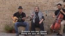 "I ""Terroni uniti""    cantano per i Sioux"