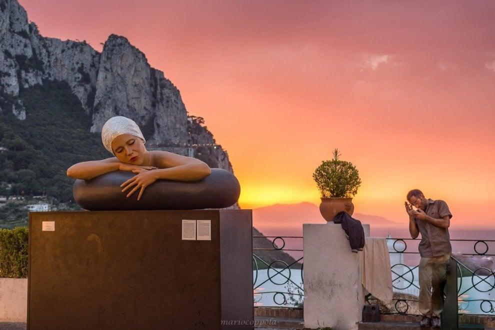 Capri surreale, il tramonto come in un sogno