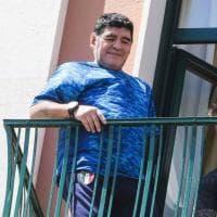 Maradona in città, il saluto ai napoletani