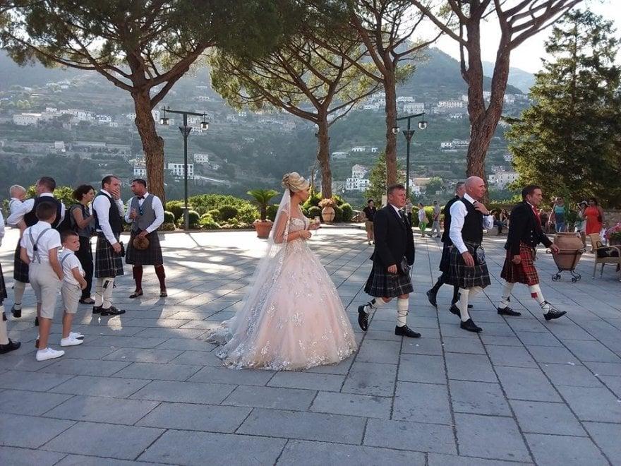 Matrimonio In Kilt : Ravello l eleganza del matrimonio in kilt di