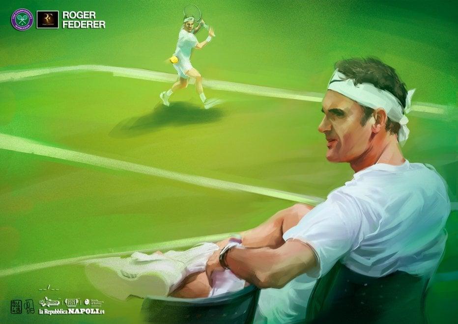 Federer, l'omaggio del disegnatore della Marvel, per voi da martedì in edizione limitata