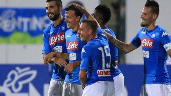 Tanti gol e tanto spettacolo, il Napoli cresce bene