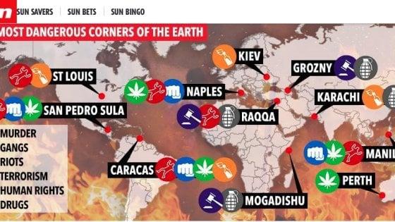 Napoli: tra i luoghi più pericolosi al mondo secondo la classifica del Sun