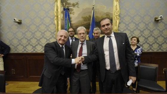 Firmato l'accordo per la bonifica di Bagnoli