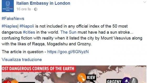 Classifica del Sun, Napoli fra 10 città più pericolose al mondo