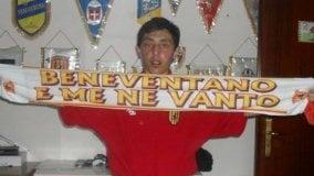 Da quando aveva 3 anni segue il Benevento calcio