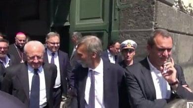 """Delrio, lezioni di moderatismo al sindaco    De Magistris: """"Vedi, mi sono tenuto    anche con Renzi  /Video"""