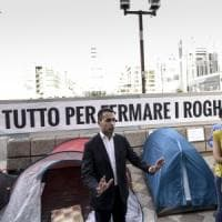 Regione, Cinque Stelle in tenda: