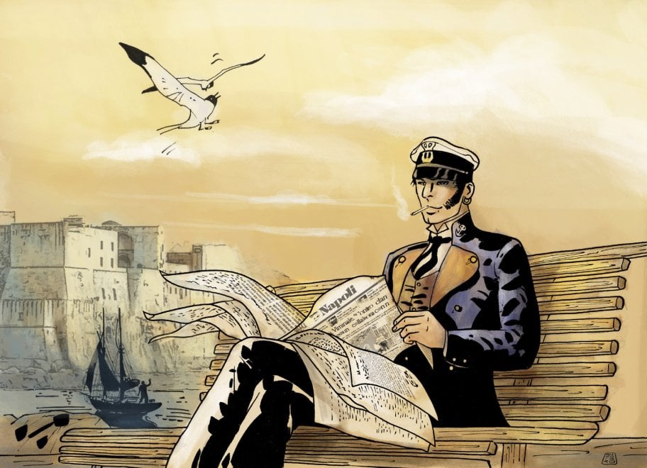 I 50 anni di Corto Maltese: il disegno di Lorenzo Ruggiero per Repubblica Napoli