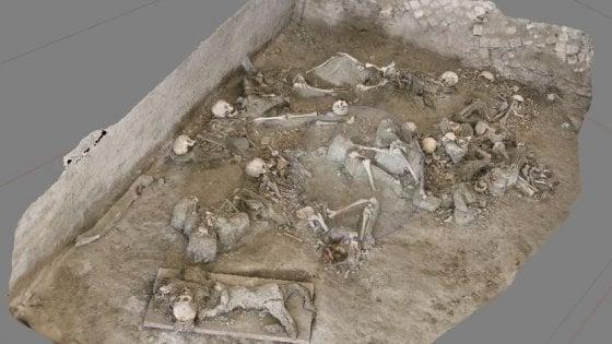 Scavi di Oplontis, un feto e due donne incinte tra le vittime dell'eruzione del Vesuvio