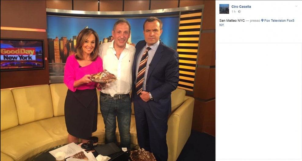 Ciro Casella, il pizzaiolo dei vip a New York, ospite a Fox 5