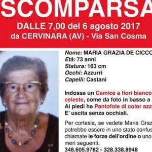 Cervinara,  trovata morta l'anziana scomparsa da cinque giorni