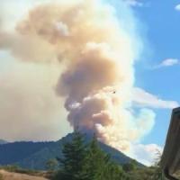 Potenza, brucia il monte Arioso