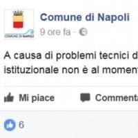 Comune di Napoli: va offline il sito istituzionale per