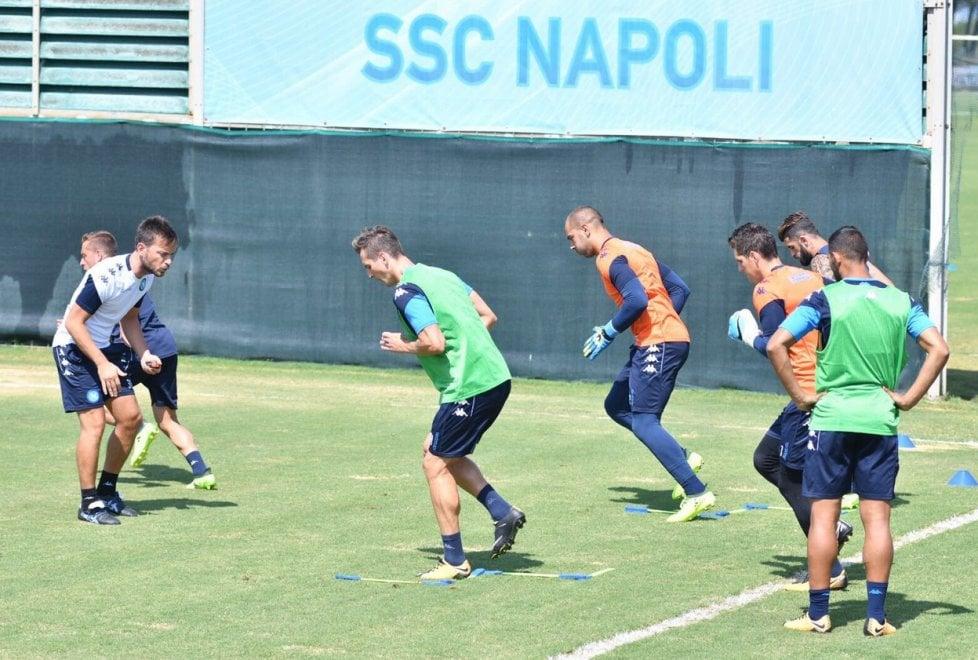 Gli allenamenti del Napoli a Castelvolturno