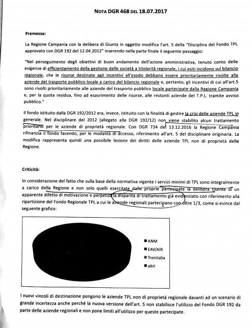 Scontro tra Anm e Regione sui fondi Eav: il documento che rivela i contributi assegnati in via straordinaria alla holding