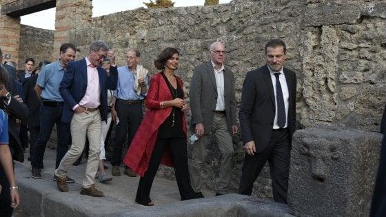 """Boldrini a Pompei: """"Mostriamo la parte più bella dell'Italia"""""""