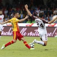 Benevento-Torino: 0-0 all'intervallo