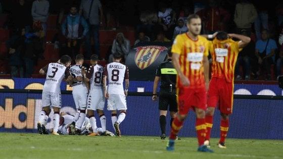 Benevento ko, vince il Torino: beffa a tempo scaduto