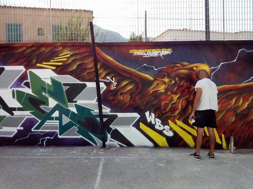 Un graffito dopo il terremoto, Zeus40 omaggia Lacco Ameno