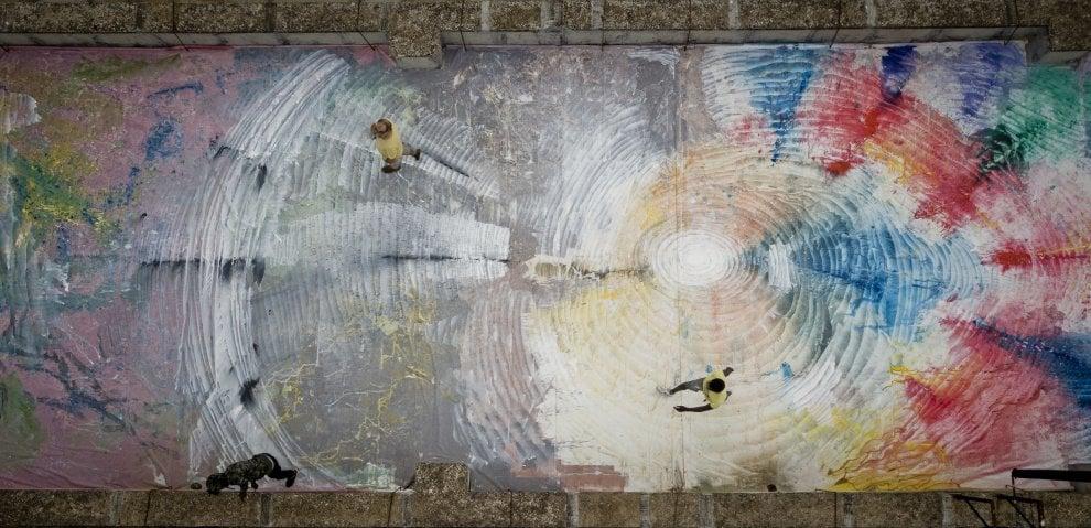 """Una tela di 1.500 metri quadri sul tetto di Napoli: ecco il progetto """"Cantiere 1/ Terrazzo"""""""