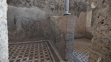 """Pompei, porte aperte al complesso  di Championnet e alla Casa del marinaio  /FT    Osanna: """"Ecco gli splendori delle domus"""""""
