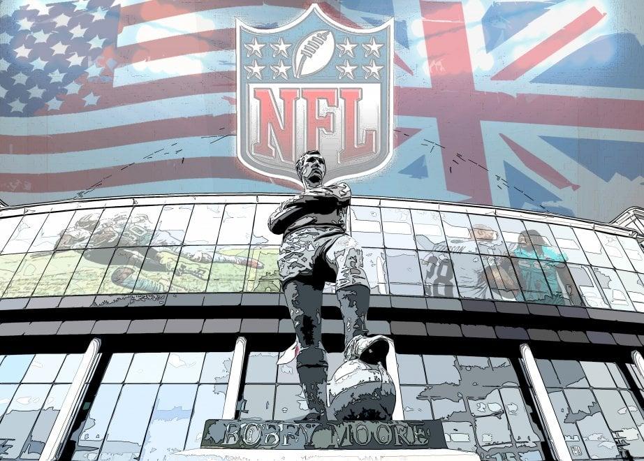La Nfl nel tempio sportivo inglese di Wembley, i disegni di Ruggiero