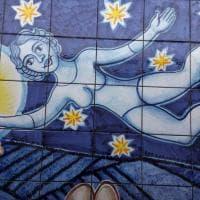 Avellino, un mosaico di 600 mattonelle in ricordo di Giacomo Del Mauro