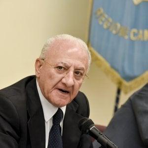 """De Luca attacca il Comune: """"A Napoli neanche un euro in bilancio per Anm"""""""