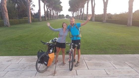 """Il ciclista francese derubato: """"Ma da voi ho trovato anche solidarietà e gentilezza"""""""