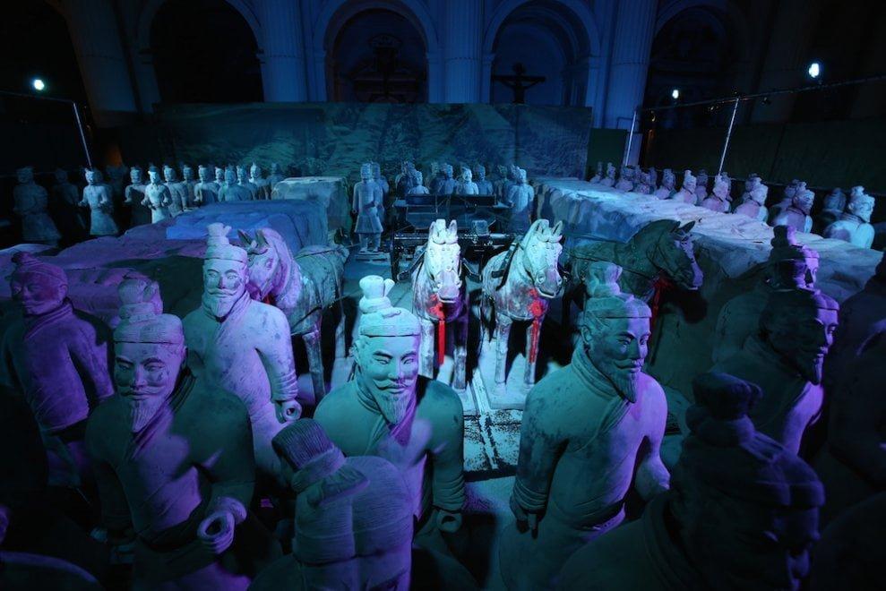 """Cinquemila ingressi in 7 giorni: la mostra sull' """"Esercito di terracotta"""" cinese conquista Napoli"""