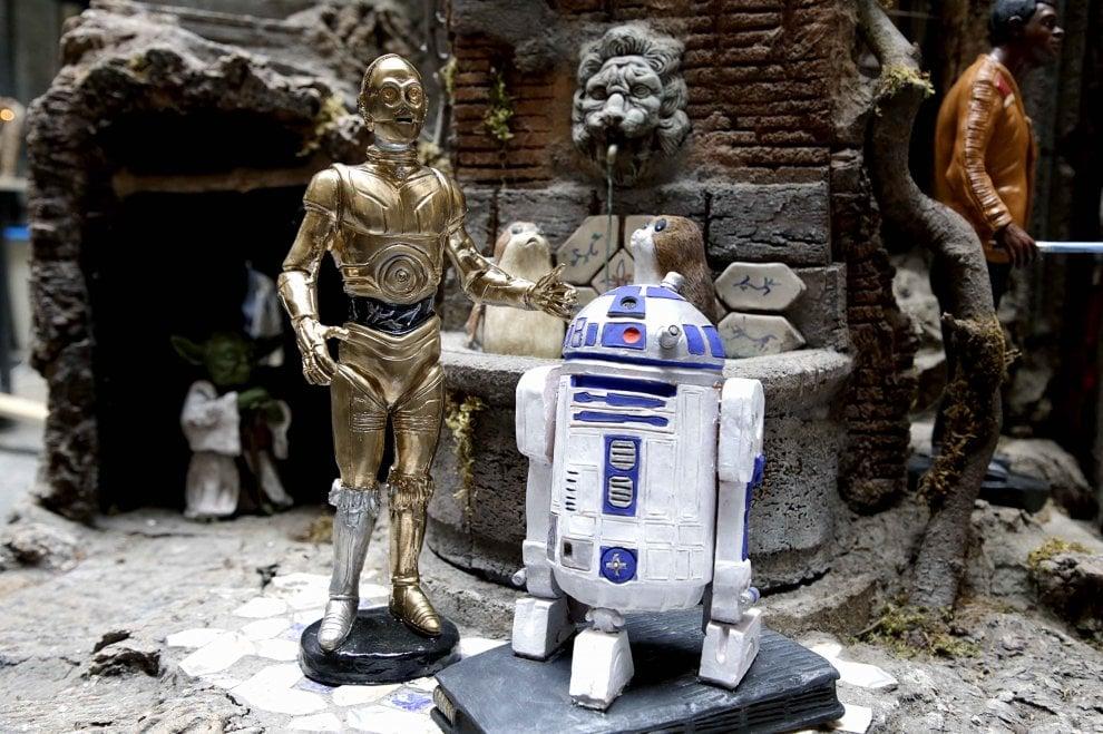 I personaggi di Star Wars diventano protagonisti del presepe napoletano