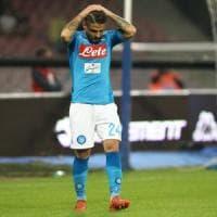 Napoli-Fiorentina: forfait di Lorenzo Insigne. L'attaccante salterà la
