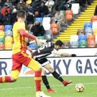 Benevento, quanti errori: ko sul campo dell'Udinese (2-0)