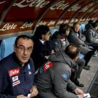 Napoli, Sarri guarda il bicchiere mezzo pieno: