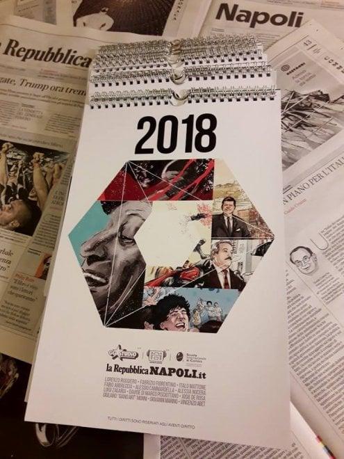 Stampe d'autore: ecco il calendario di Repubblica Napoli con la Scuola internazionale di Comics