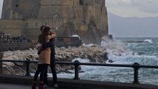 Napoli romantica  in un giorno di inverno