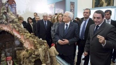 """Il presidente della Repubblica Mattarella inaugura al Quirinale la  mostra  """"Presepe Napoletano""""  /Foto    /Video"""