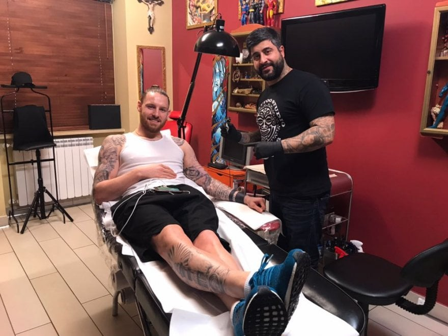 Un nuovo tatuaggio made in Napoli per Connor Wickham attaccante del Crystal Palace