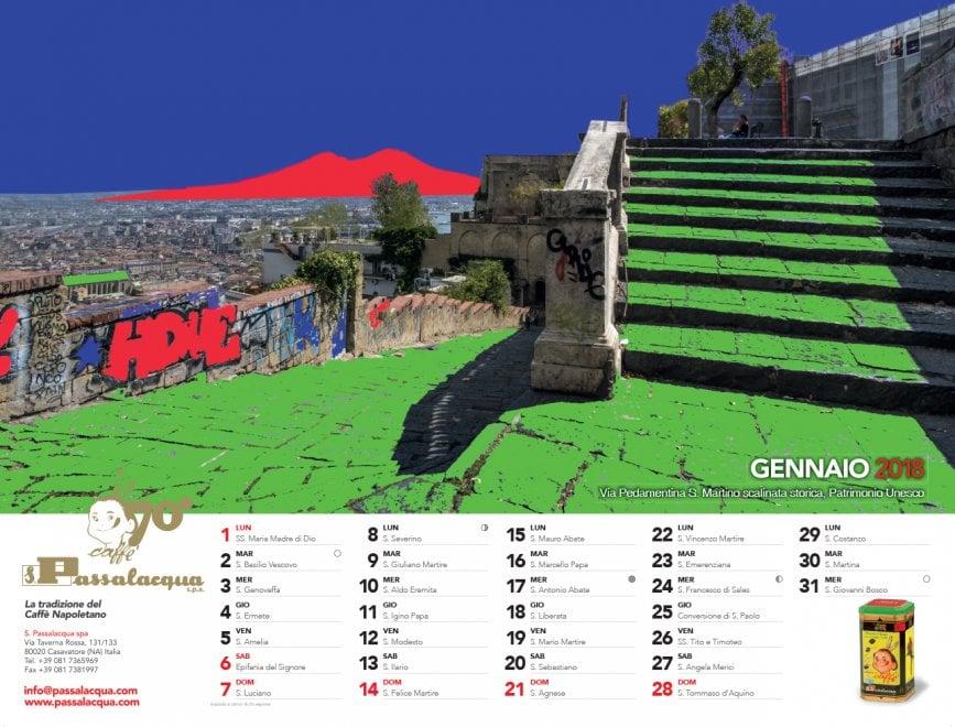 I mille colori di Napoli nel calendario Passalacqua che celebra i 70 anni dell'azienda del caffè