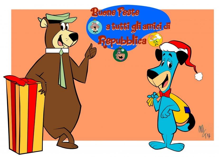 Gli auguri di Braccobaldo, Yoghi e Scooby Doo nei disegni di Marco ...