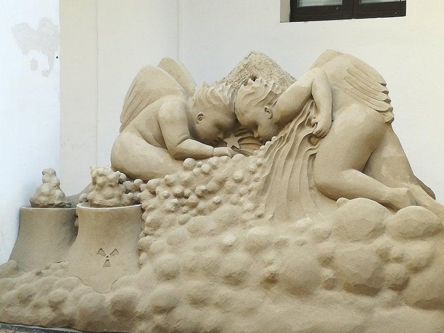 Presepe di sabbia, a Salerno boom di visitatori
