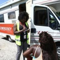 Emergency a Castel Volturno. Un camper per assistere le
